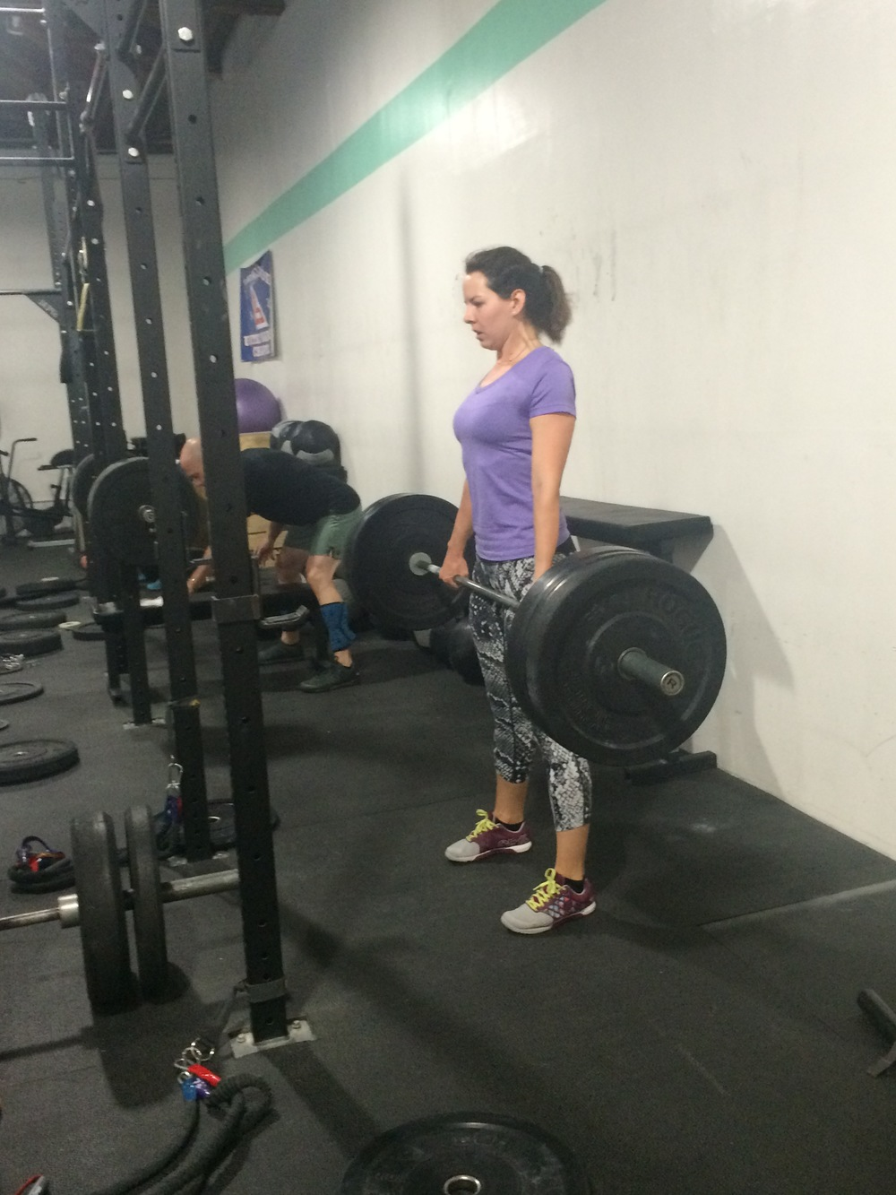 Johnyne, PRing her deadlift on her first day trying SWOD!