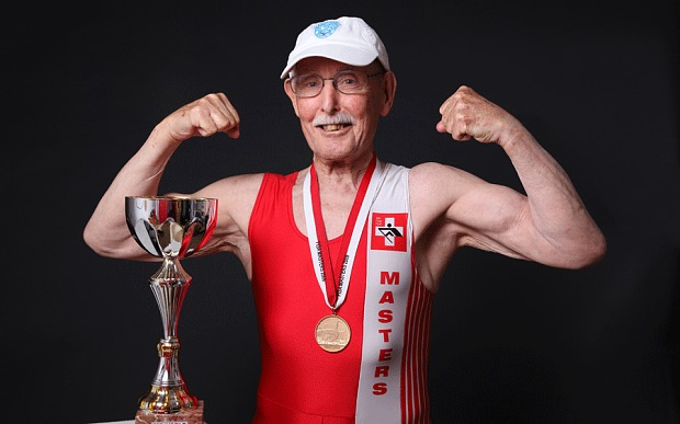 96-year old Charles Eugster is competing for the 100m indoor world title today in Lyons