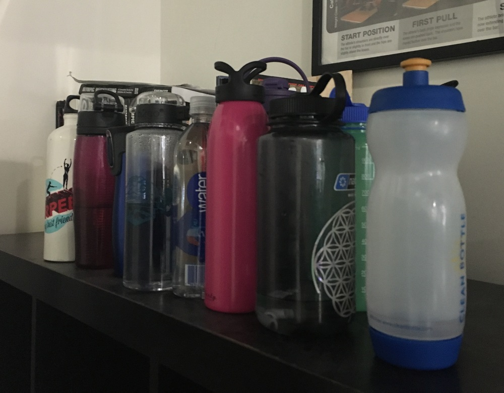 The many water bottles of UB... bottles left by Friday will be recycled!