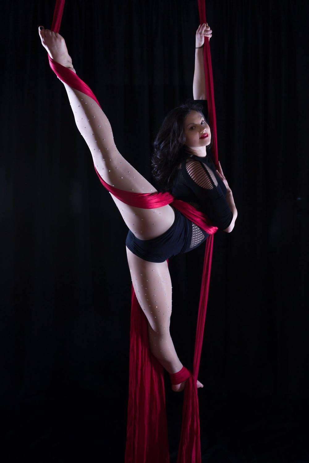 And flying on the aerial silks!