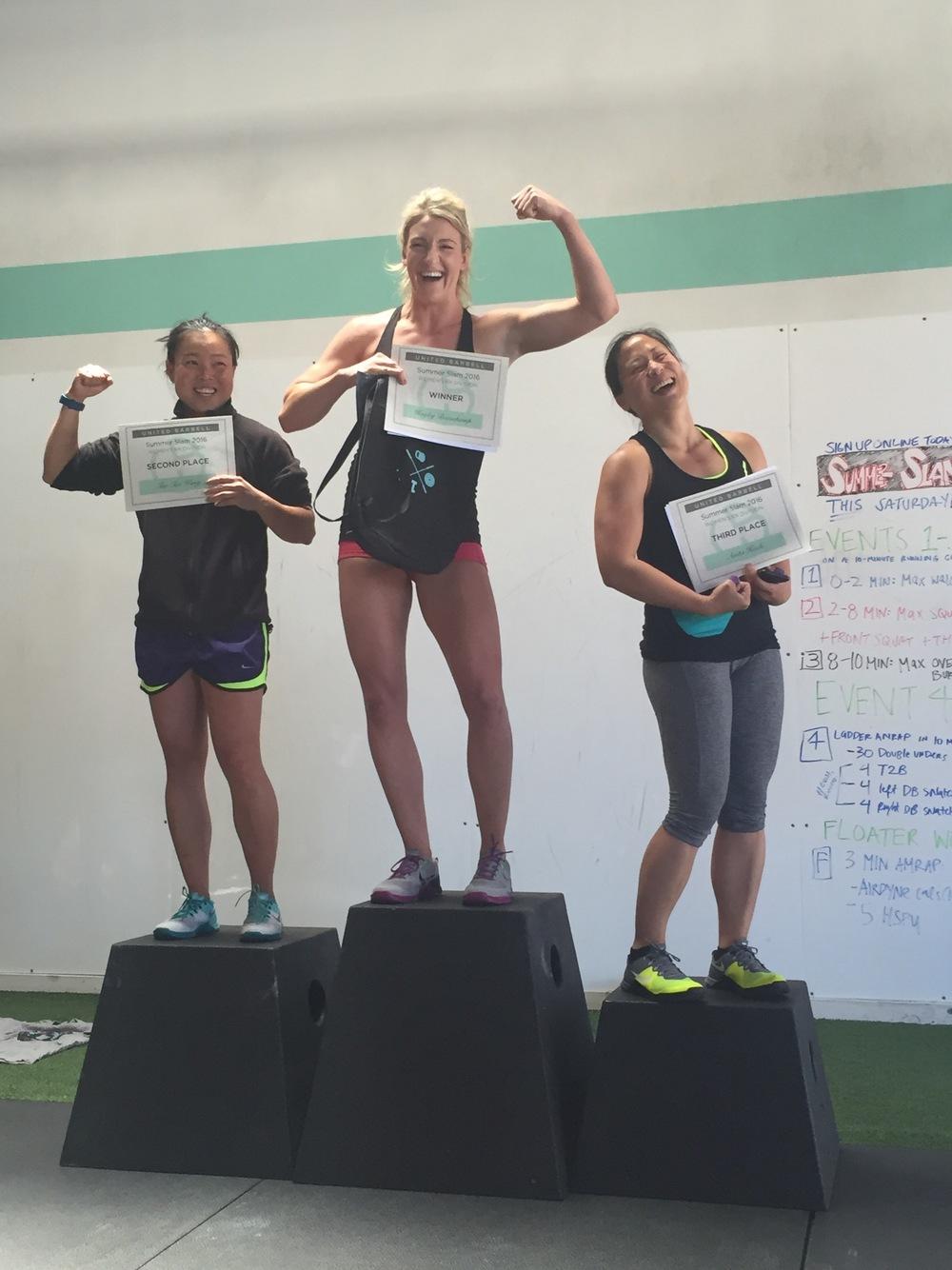 RX Ladies: 1st - Hayley, 2nd - Tao Tao, 3rd - Anita