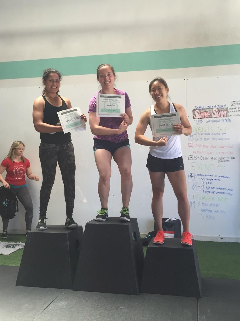 Scaled Ladies: 1st - Alex P., 2nd - Zara, 3rd - Stephanie