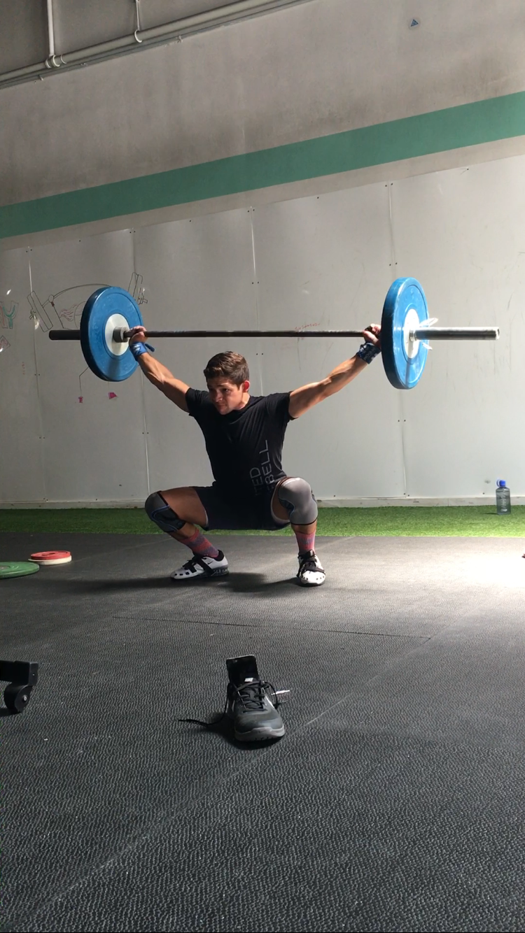 To commemorate his final week at UB, Ryan set a 15# PR in his snatch.