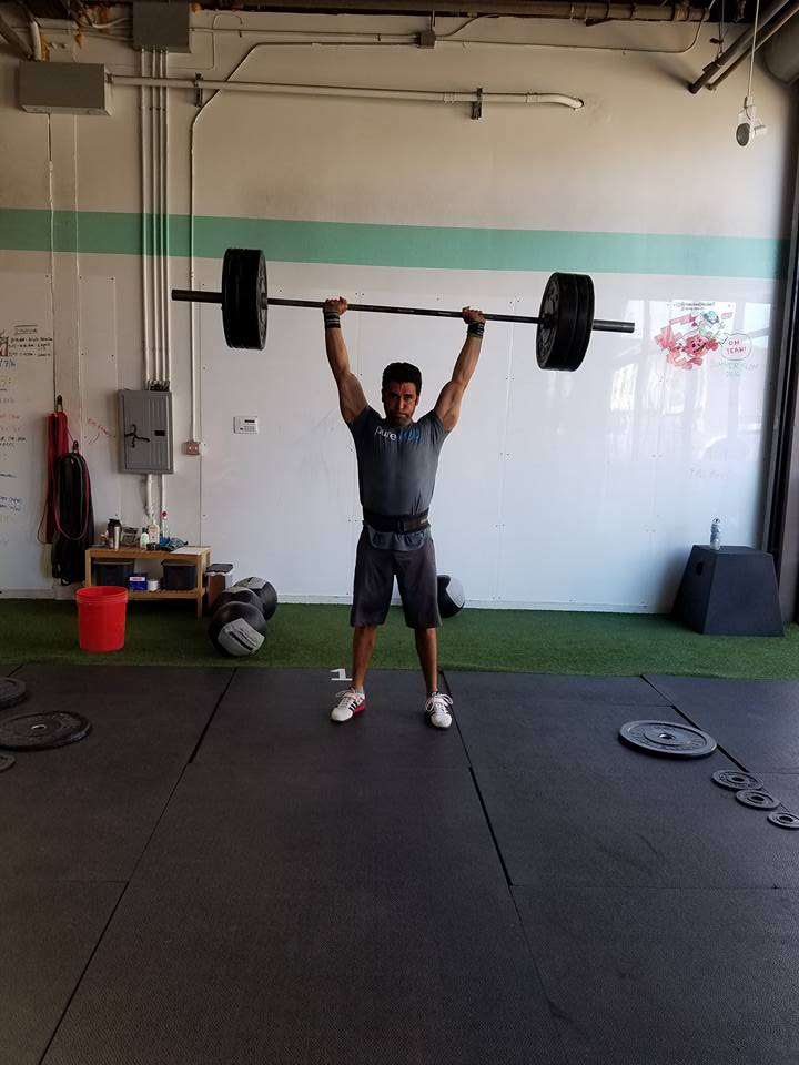 Alfredo killed it on the Summer Slam thruster complex
