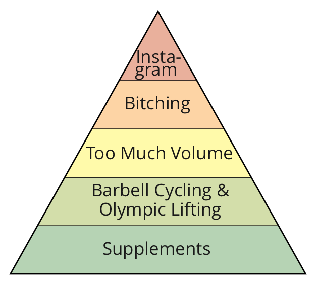 Figure 1: A theoretical hierarchy of development for a sub-par competitor.
