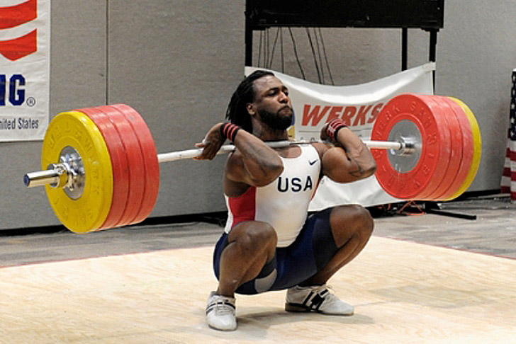Kendrick Farris is benefitting from a more upright torso (achieved by the raised heals of his oly shoes).  He definitely does not suffer from a lack of mobility.