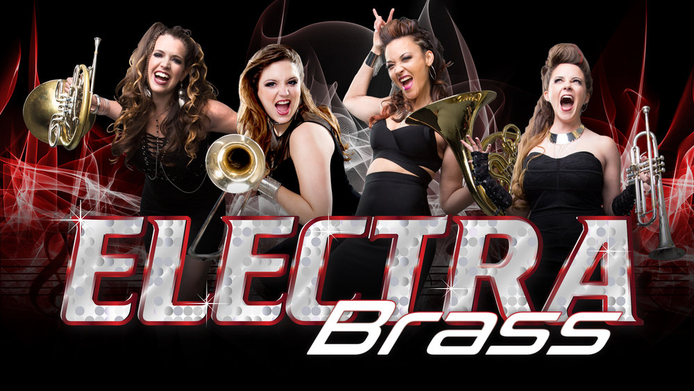 Electra Brass - created and led by master French hornist Jenni Lee Kearns, is a powerhouse, female electric horn group sure to bring an audinece to their feet. This unique group of beautiful and talented women takes rock-and-roll horns to a whole new level