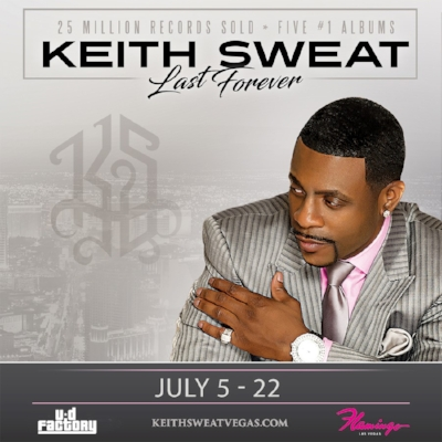 Keith Sweat - Don't miss your chance to spend an evening with iconic crooner Keith Sweat, now playing at the Flamingo in Las Vegas. UD Factory produces this show, sure to impress fans of Keith Sweat. Take a trip back to the 80s and 90s through this Strip show that is hotter than the pavement on Las Vegas Boulevard.