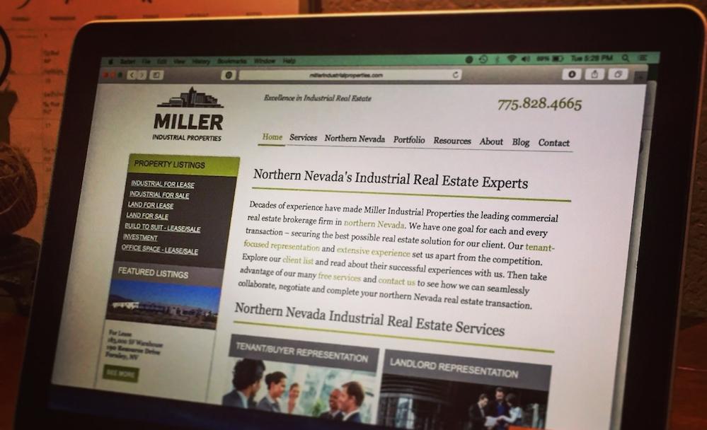 Miller Industrial Properties // Website Content + Blogging