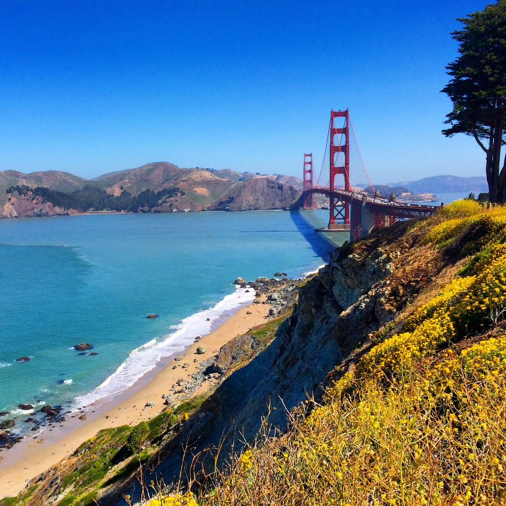 Susie says...     The Presidio Coastal Trail is a wonderful place for a trail run and boot camp-style workout utilizing the soft sand and hundreds of stairs. And you cannot beat the views to the north of the Marin Headlands and the Golden Gate. Spectacular!