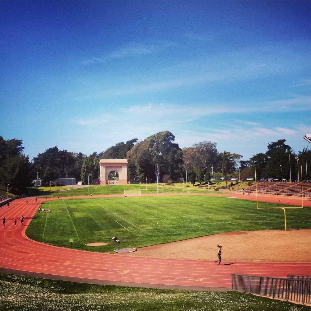 Susie says...    Kezar Stadium is one of my favorite places to train! Having access to the track and bleachers, you are sure to get an amazing workout at the same place the 49ers played up until 1971. How cool is that??