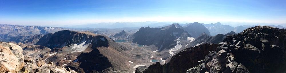 Panoramic view from the summit.  Photo Credit: Vasu Sojitra