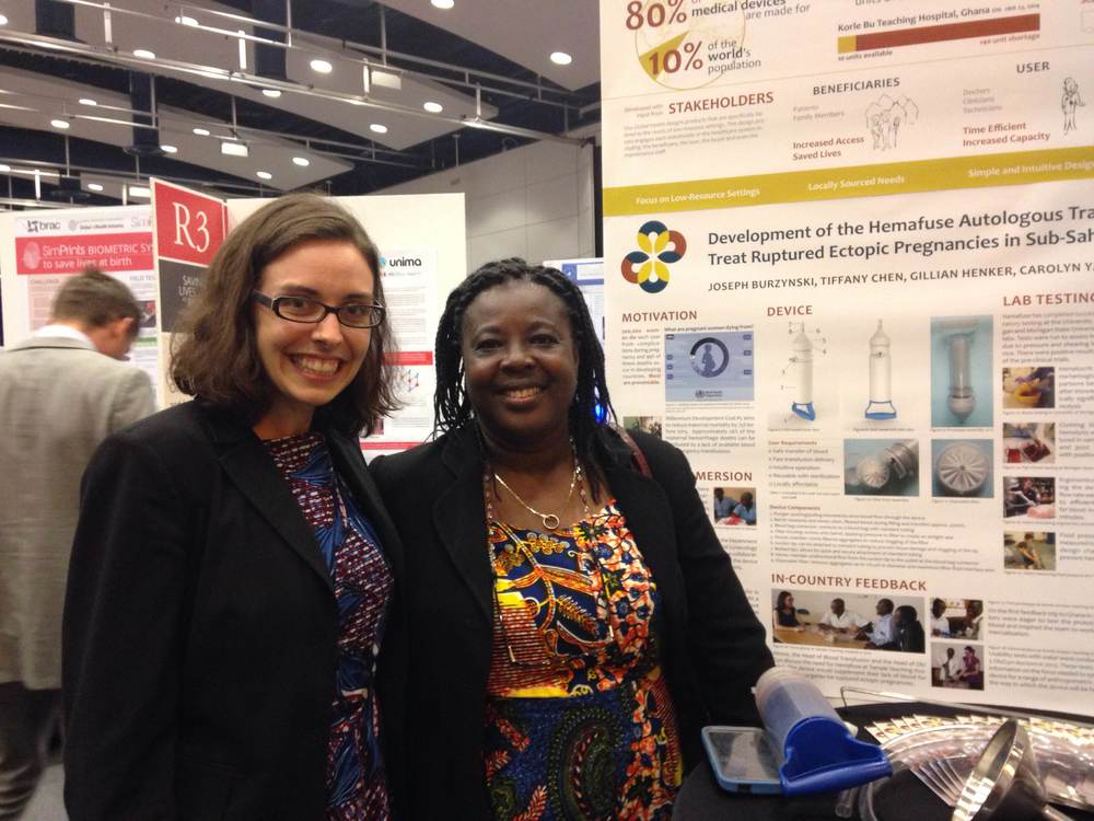 Gillian Henker (Sisu's CTO) with Dr. Sylvia DeGananes of Tema General Hospital. We met Dr. DeGananes on previous trips to Ghana and were happily surprised to meet her again in Washington D.C.