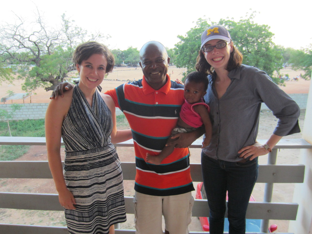 From left to right: Katherine Kirsch, Sisu's CMO, Dr. James Akazili of Navrongo Health Research Center and past researcher at University of Michigan, his son, Eusebius Alowine Gavin Akazili, and Gillian Henker, Sisu's CTO