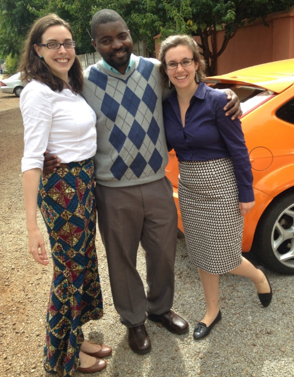 From right to left: Gillian Henker, Sisu's Chief Technology Officer; Dr. Tinashe Gede, Doctor of Internal Medicine at the University of Zimbabwe; and Katherine Kirsch, Sisu's Chief Marketing Officer.