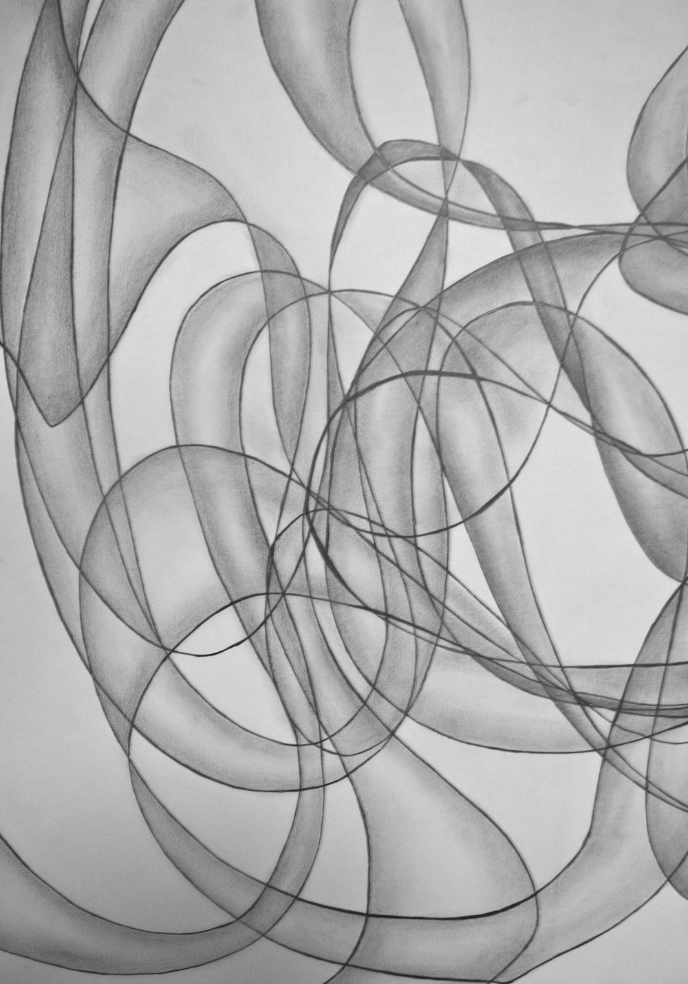 Dyptich Ribbon Project @ UCSD, Pencil on Paper, (2011)