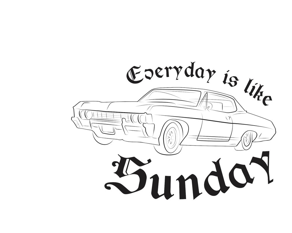 everyday is like sunday - lowrider car featuring a lyric from