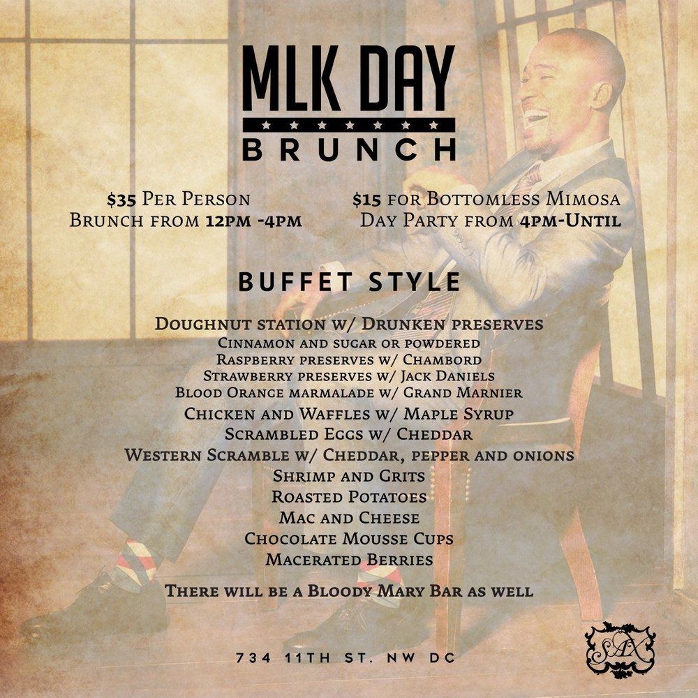 MLK Monday Brunch at SAX