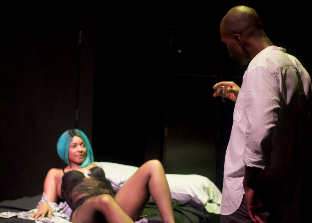Cairo confronts his temptress in a revealing scene. during the second act.