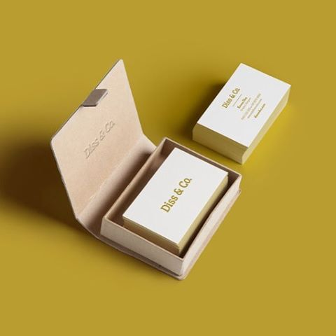 Loving our super minimalistic business cards printed on 100% recycled paper stock by @scottprint
