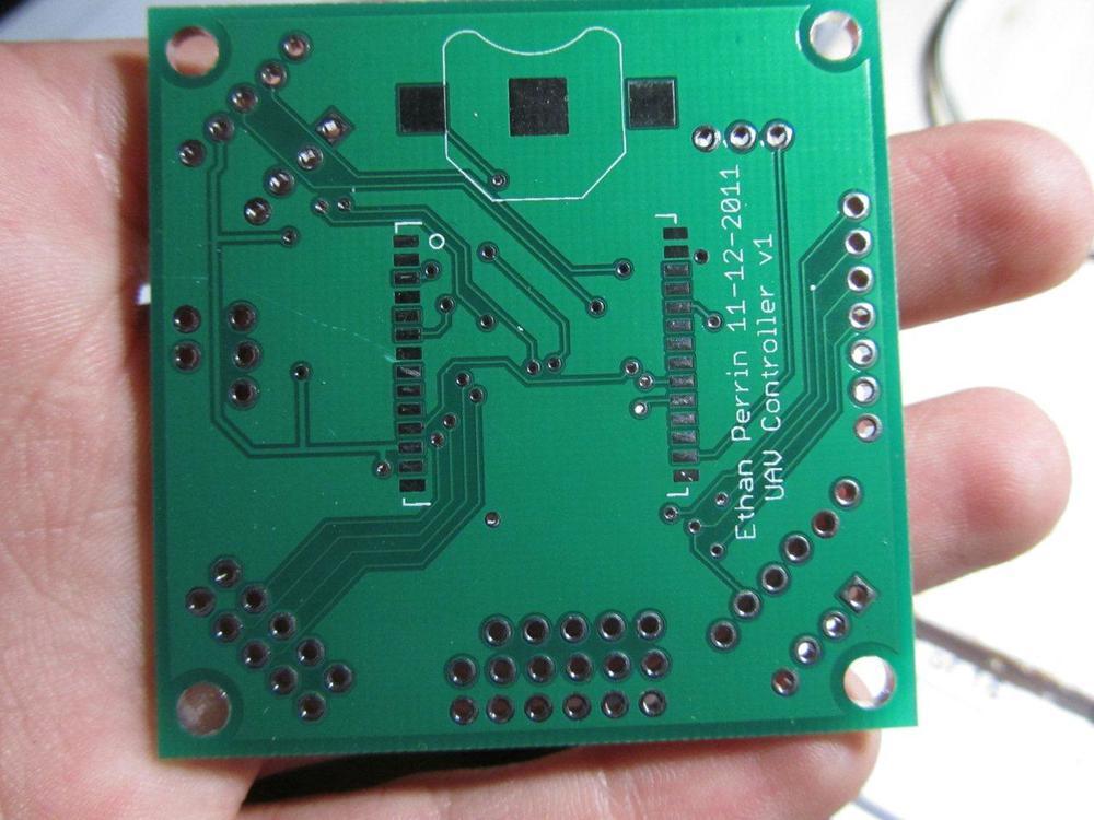 UAVController v1 PCB - Bottom