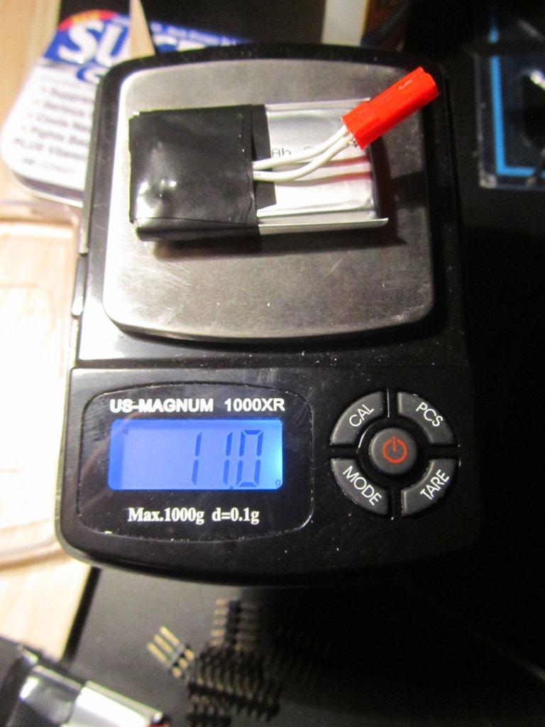 Battery weight