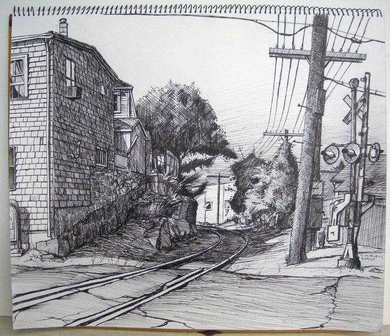 Railroad Crossing (Cedar St. Gloucester, MA)