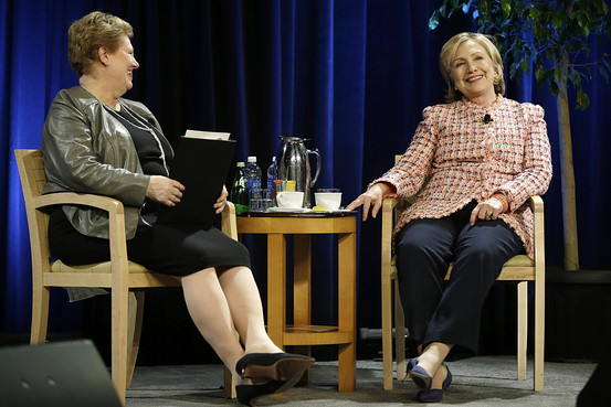 Helen Drinan interviews Hillary Clinton at the 2014 Simmons Leadership Conference.