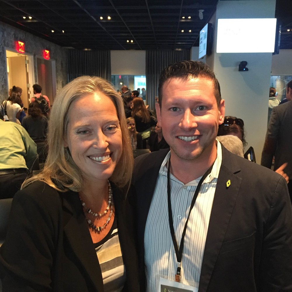 Matt Ronen with Wendy Kopp, the founder of Teach For America, at the Service Matters Summit. (Sept. 15, 2016)