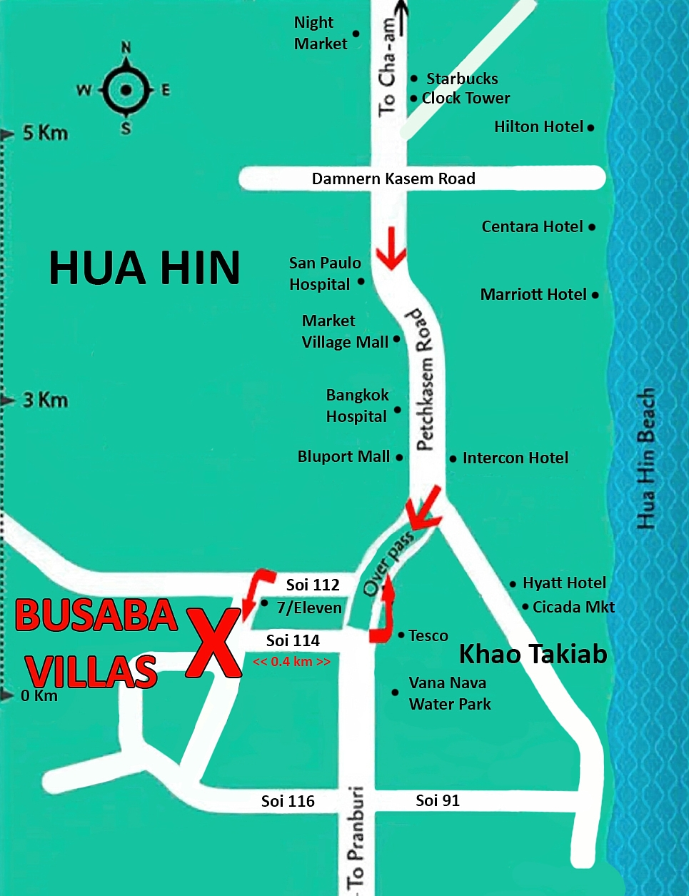 Hua Hin Map-1