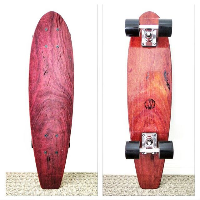 Raw Series Zephyr in sustainable Red Gum ✌ . . #handmade #handcrafted #ecofriendly #skateboard #sustainable #sustainability #environment #ecosalvaged #reclaimed #recycled #longboard #longboarding #skateboarding #skate #surf #retro #vintage #woodwork #woodworking #recycledwood #recycledtimber #salvaged #reclaimedwood #eco