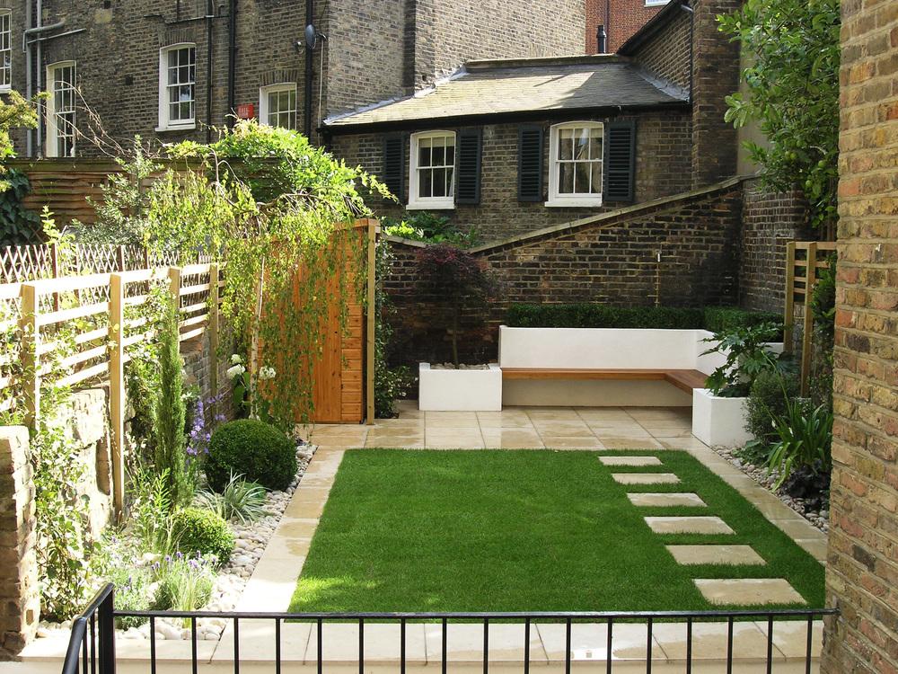 Canonbury garden — Living Gardens on Square Patio Designs id=43227
