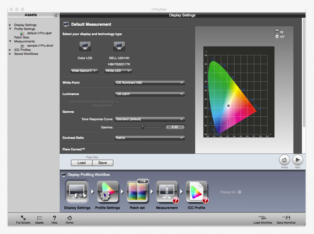 i1 Profiler X-Rite Display Settings | Daniel Sommer Photography