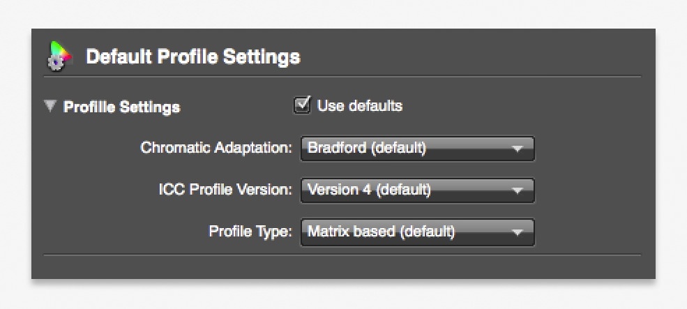 i1 Profiler X-Rite Default Profile Settings | Daniel Sommer Photography