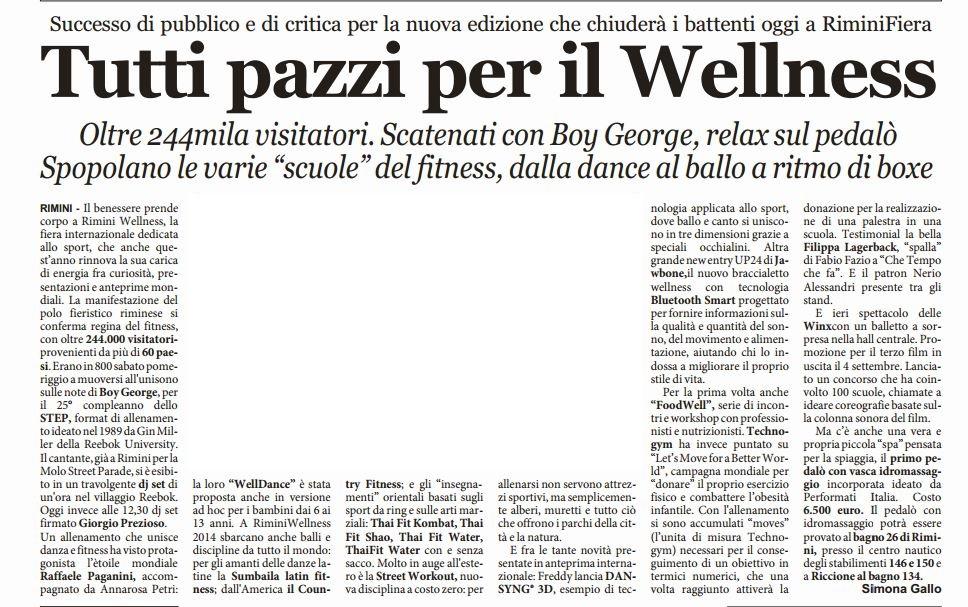 Il quotidiano di Rimini_wellnesspedalò