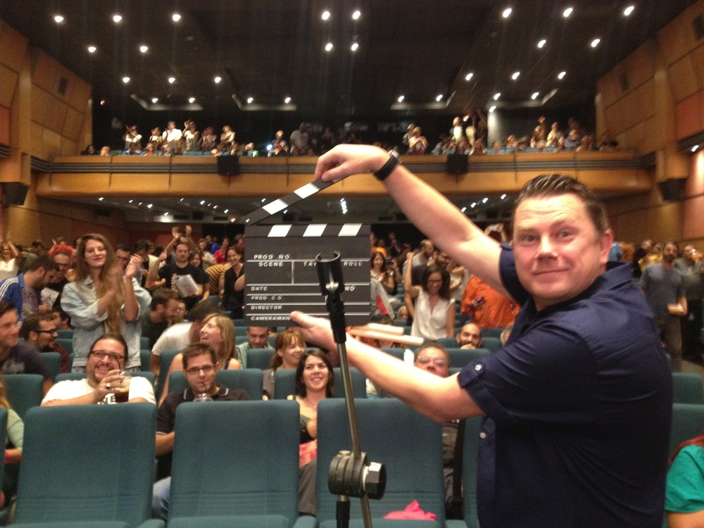 Pulp audience standing ovation & Nick Banks at the Athens International Film Festival in October 2014 where the film was awarded a Special Jury Mention.
