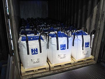 Höganäs 2015. Container med 24 pallar.