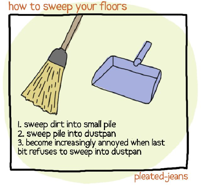 how to sweep your floors