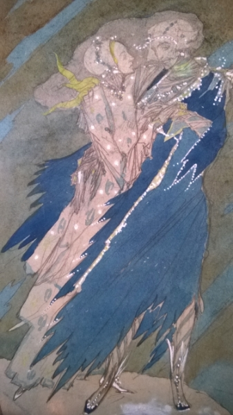 ' Long ago These Lovers fled away ' by Harry Clarke (Pensil, Watercolour) Briga Saulė, 2014