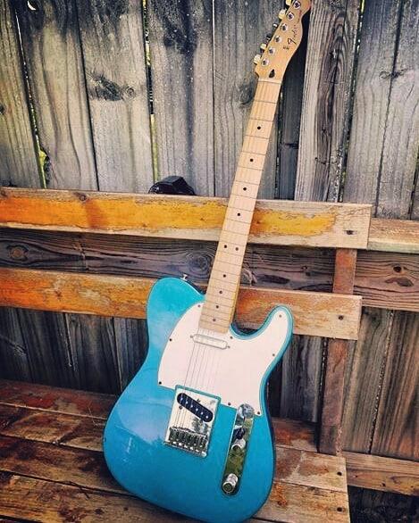 www.shawnsleepsnaked.com  #fender #telecaster #guitar #music #blue #art