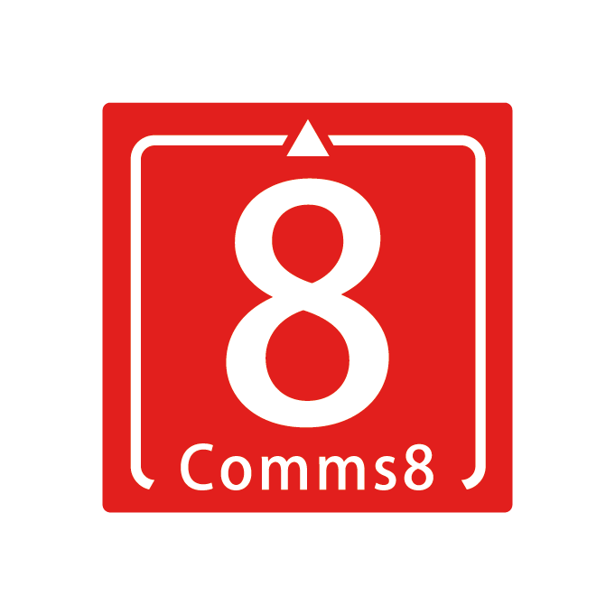 Comms8-White-on-Red.png