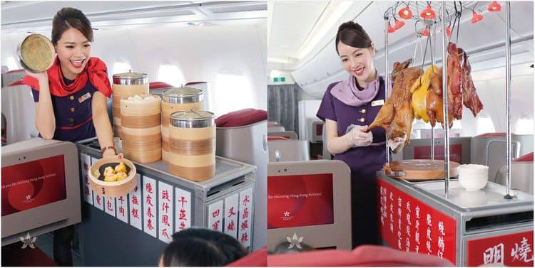 Hong Kong Airlines serving Hong Kong food
