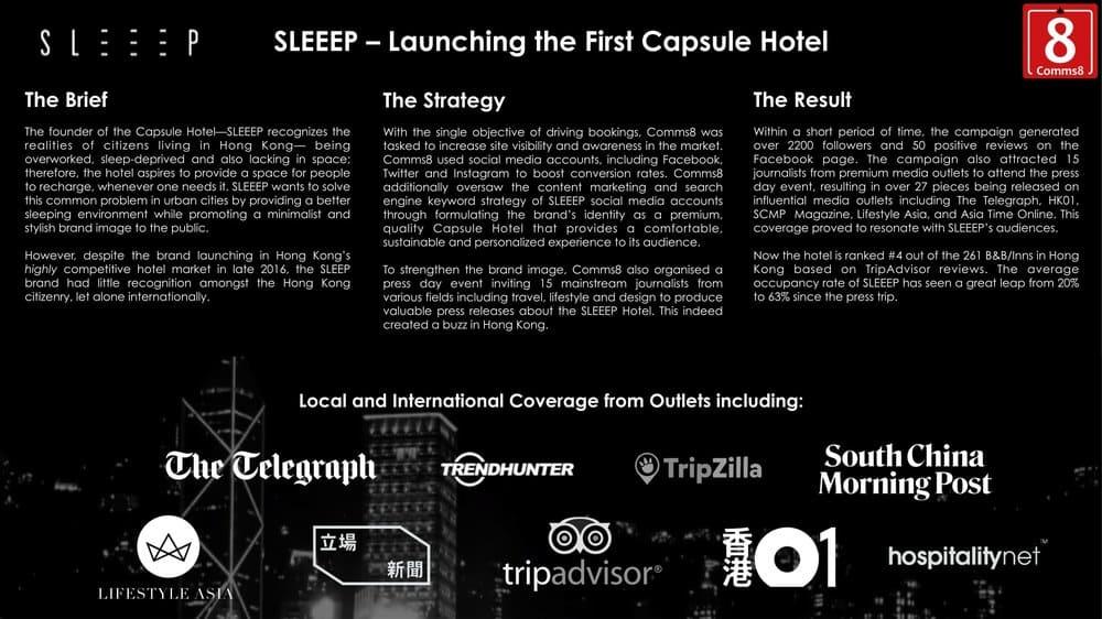 Capsule Hotel marketing campaign
