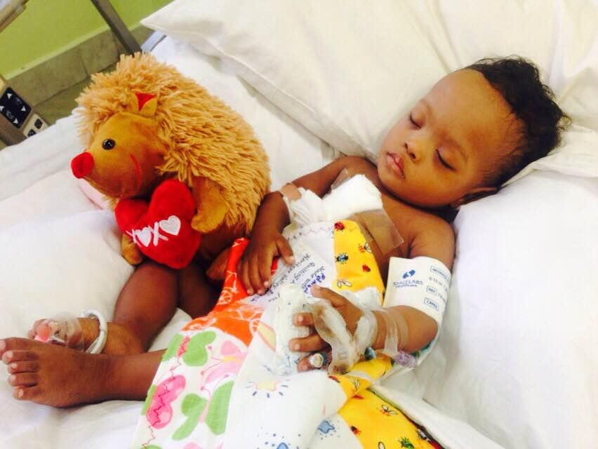 """Anthony aus Guyanakonnte dank unserer Spendenaktionerfolgreich vom einemTeam der """"International Children's Heart Foundation""""operiert werden."""