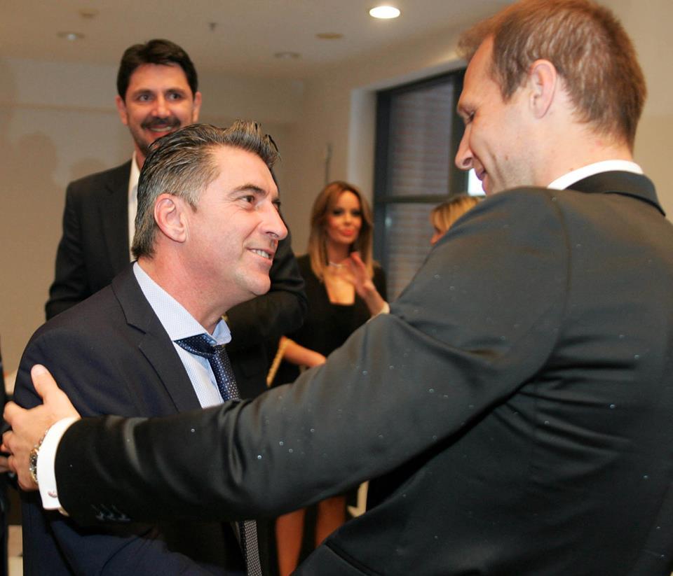 Με τον Zlatan Muslimovic, πρώην ποδοσφαιριστή του ΠΑΟΚ, στην εκδήλωση για τα 90 χρόνια ζωής του Συλλόγου.
