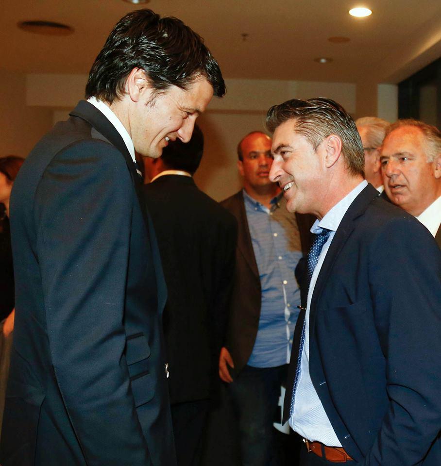 Με τον Vladan Ivic, σημερινό προπονητή της ομάδας του ΠΑΟΚ, στην εκδήλωση για τα 90 χρόνια ζωής του Συλλόγου.