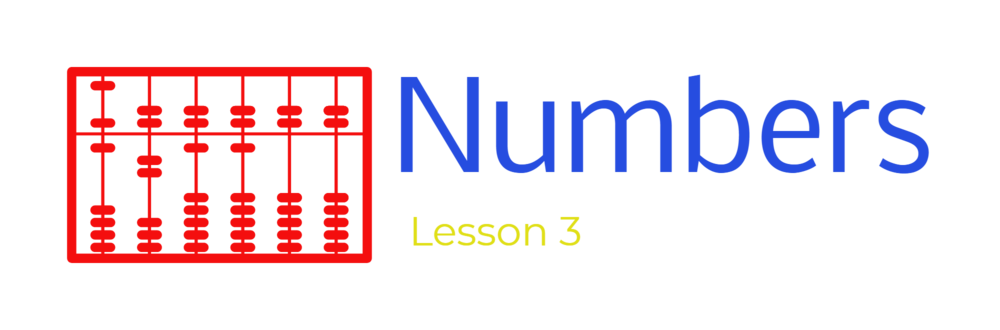 Lesson 3 - Numbers