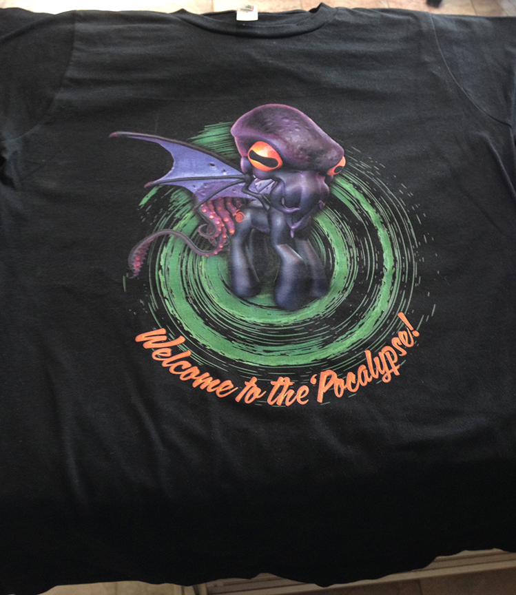 Super stoked for these awesome t-shirts, printed up for our Kickstarter campaign by the Shirt Sherlock! Printing just finished and these shirts are on the way to us now.