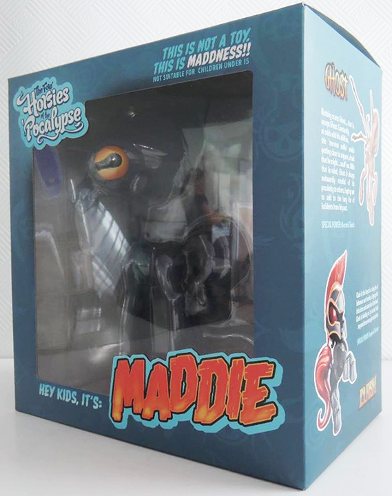 We got some beautiful shots of the finished packaging for the Little Maddie figures... the figures are being produced, painted and packaged right now. We will be showing packaged samples at NYCC Booth 208 at the Tenacious Collective space and shipping figures to backers as soon as the Maddies arrive in our US warehouse.