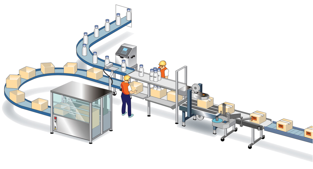 HM Linerfree is a versatile end of the line carton labelling system